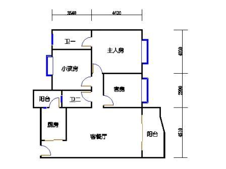 云湖湾A1A2A3-6层01单元