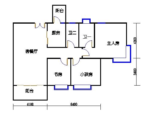 3栋3~13层01单元