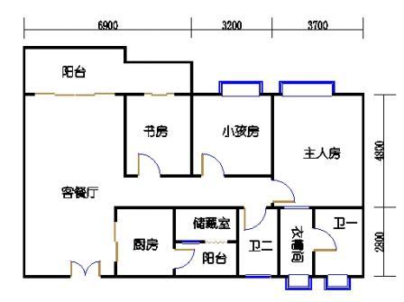 4栋3~16层04单元
