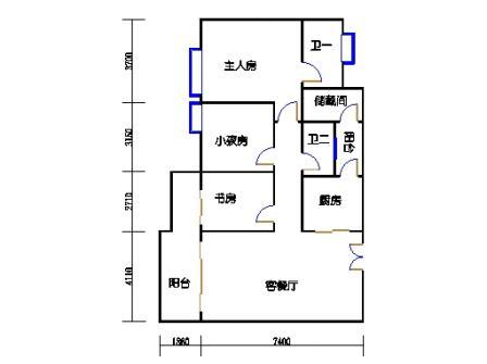 8栋4~12层04单元