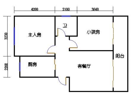 2室1厅1卫1橱