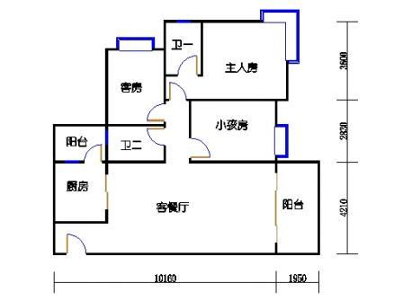 Y1栋4、7、10、13、16层01单元