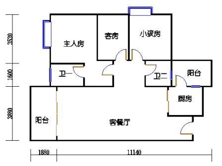 Y1栋4、7、10、13、16层05单元