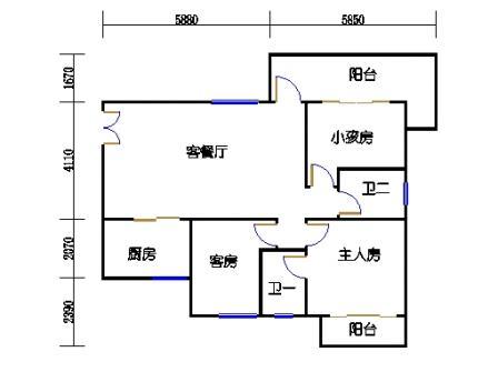 Y1栋4、7、10、13、16层06单元