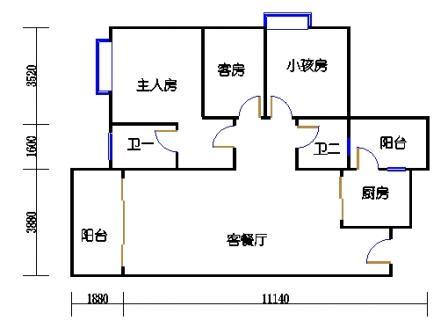 Y1栋5、6、8、9、11、12、14、15、17、18层05单元