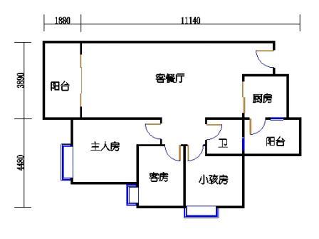 Y3栋5、6、8、9、11、12、14、15、17、18、20、21层04单元
