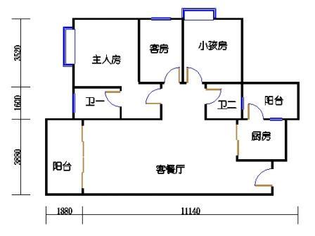 Y4栋5、6、8、9、11、12、14、15、17、18层05单元
