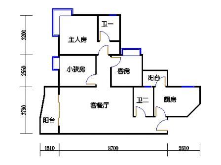 1栋6层~30层06单元