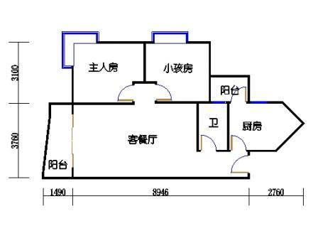 2栋6层~30层06单元