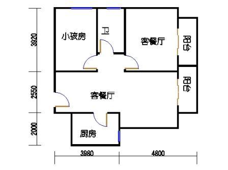 5号楼E户型