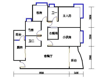 D1号楼2-17层01单元