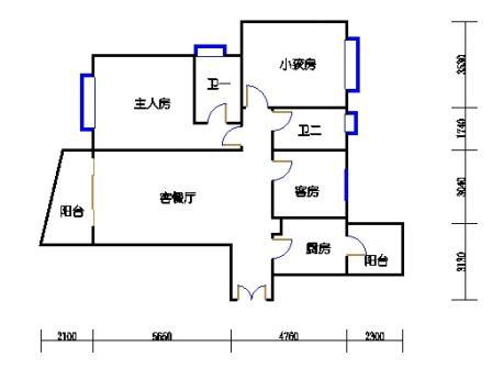 B塔5-13、16-29、32-38层B1单元