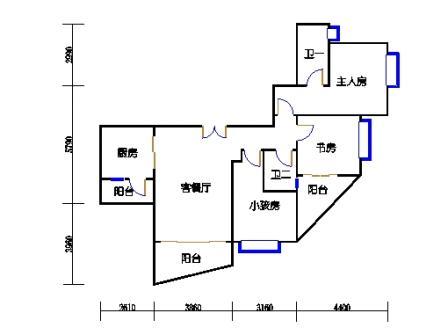 B塔5-13、16-29、32-38层B2单元