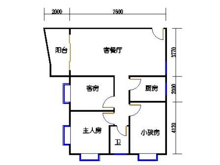 3-12层67号梯02单元