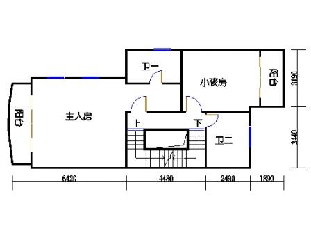 联排别墅二层A