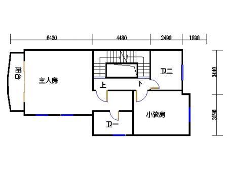 联排别墅二层B