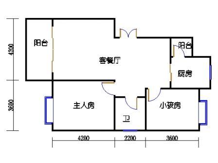 2C-6户型  2-8-6栋