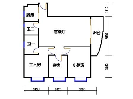 Ⅰ座6层04单元