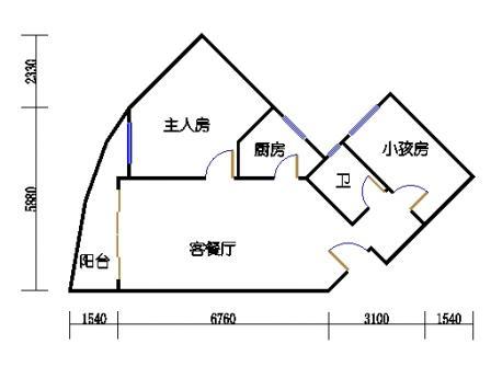 Ⅰ座7-12层06单元