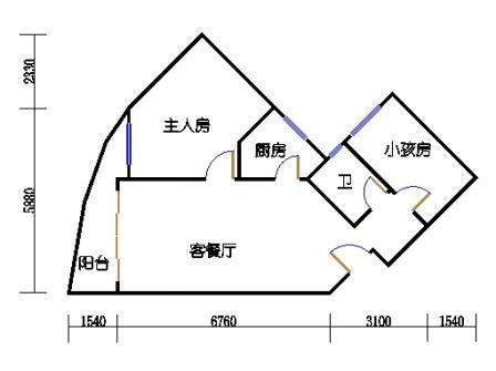 Ⅰ座17-26层04单元