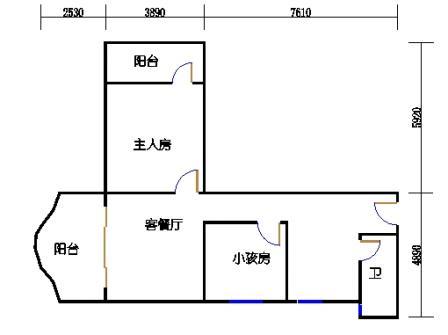4号楼翠竹居6#户型