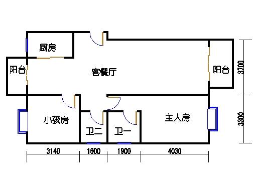 1-2号楼B1户型