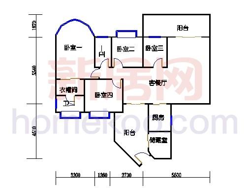 C栋4-9层01户型