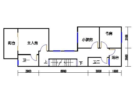 B联排别墅二层