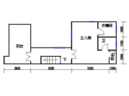 B联排别墅三层