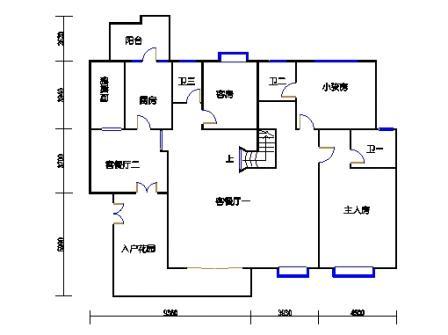 9座一梯12层复式02单元一层