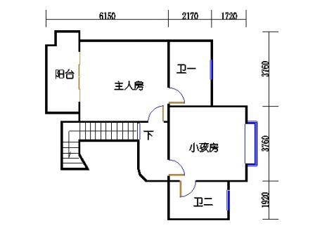 9座一梯12层复式01单元二层