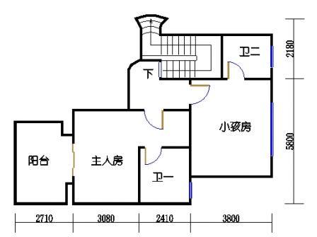 9座一梯12层复式02单元二层