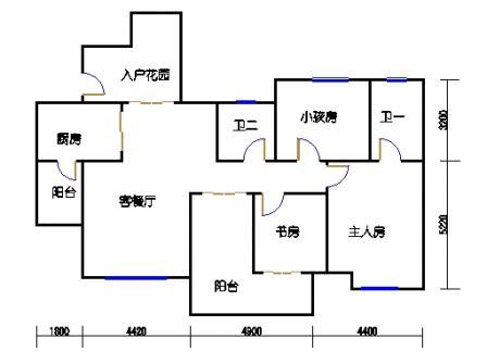 2号楼1单元2-32层2号房