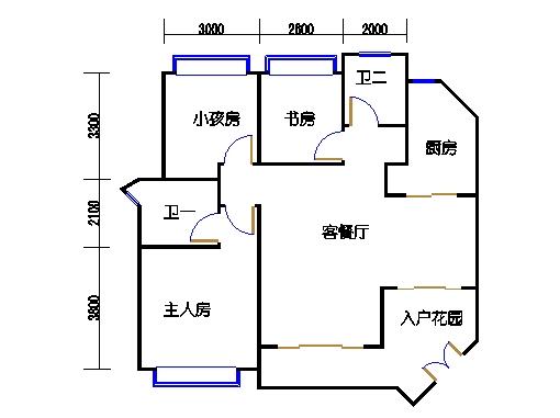 B2栋园景三房2