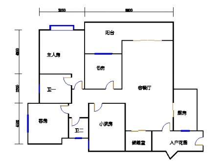 B2栋江景四房
