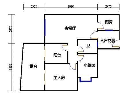 C2-2 1栋1单元4楼1号