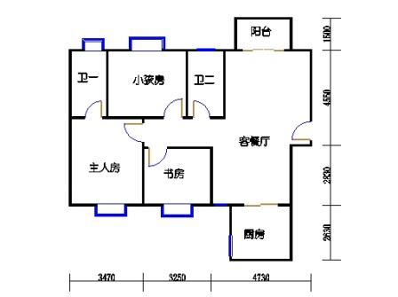 3号楼14层西北户