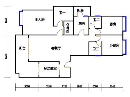G1栋02、G4栋01(2-5层)单元