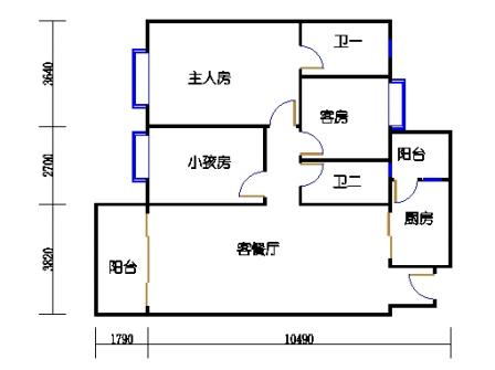 C2b户型02单元