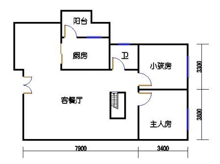 B3-1单元一层