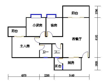 2梯二层01单元