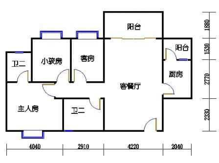 2梯二层04单元