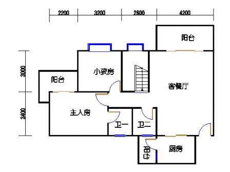 4梯11层01单元一层