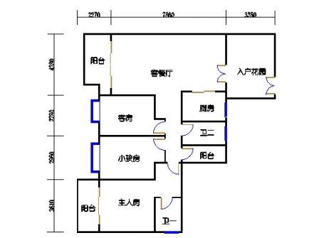 领江庭2-9层,15-22层03单元