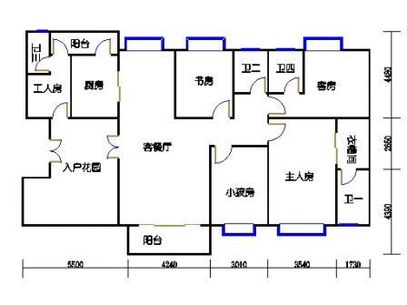 御江庭2-4层01单元