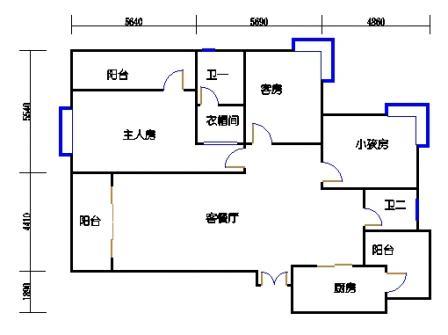 S8(3房2厅2卫1厨3阳台)3