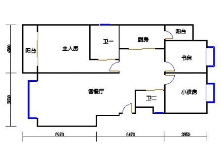 C户型平面图