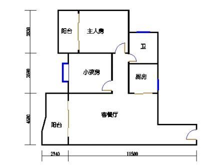 两室两厅一卫5-10-5