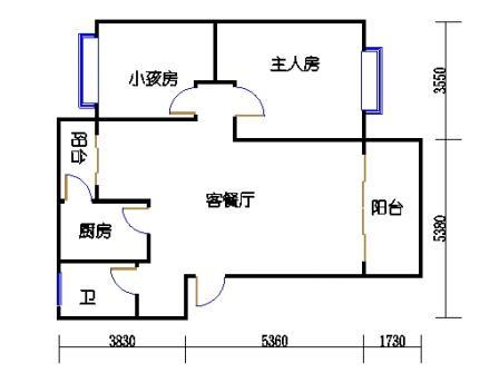 8栋9号二室二厅一卫