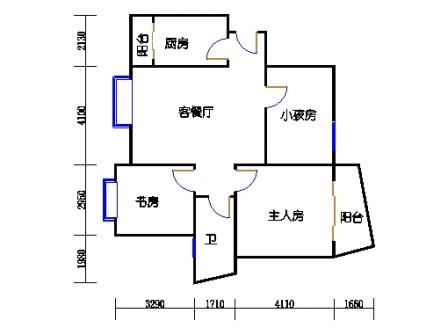 14号楼A1小三室